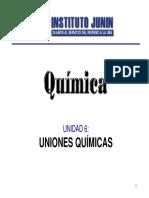 Unidad 6 Uniones Quimicas