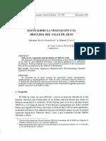 vegetacion y bioclima de Valle de Aran