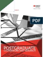 Postgraduate program guide for international students -- RMIT University, Melbourne Australia.
