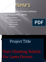 Stair Climbing Vehicle for Lame Person