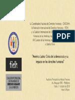 Foro CNDDH Cumbre Oficial