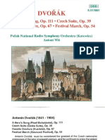 Dvorak Czech Suite Booklet