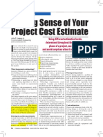 Making Sense Your Project Cost Estimate