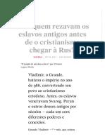 Para quem rezavam os eslavos antigos antes de o cristianismo chegar à Rus? - Russia Beyond BR