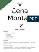 Cena Montaraz