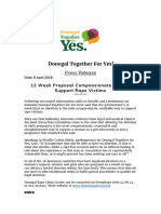 Donegal Together for Yes PRESS RELEASES