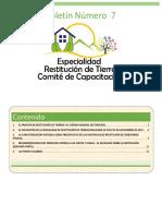 Boletin Comité de Capacitación Ed 7