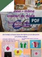 Azi Elevi Maine Creatori de Moda.scoala Gimnaziala Vasile Alecsandri Baia Mare