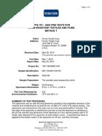 Test Procedure NFPA 705