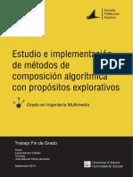 Estudio e Implementación de Métodos de Composición Algorítmica Con Propósitos Explorativos