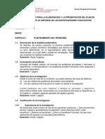 Guía y Estructura Para La Elaboración y Presentación Del Plan de Tesis de Acuerdo Al Enfoque de Las Investigaciones Cualitativas.