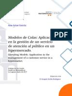 Modelos de Colas Aplicacion en La Gestion de Un Servicio de Atencion Al Publico en Un Hipermercado.