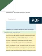 Autoevaluacion Técnicas de Dirección y Liderazgo Organizacional