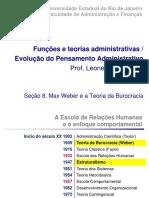 Seção 8 - Teoria da burocracia