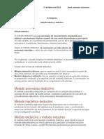 Investigación Metodo Deductivo e Inductivo