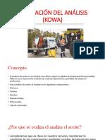 Realización Del Análisis (Kowa)
