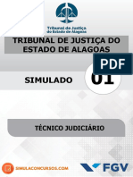 Simulado 01 Gratuito Técnico Judiciário - Tjal (2)