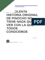 La Verdad Del Niño Que Quiere Ser Verdad...Pinocho