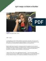 Marcela Renjel Rompe en Llanto Al Hablar de ATB