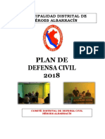 Plan de Defensa Civil 2018