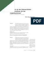 El Poder en Las Interacciones Comunicativas de Las Organizaciones . 5 de Octubre de 2006.Sonia Ines Lopez Franco