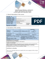 Activity Guide and Evaluation Rubrics - Course Recognition