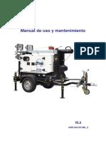 Grupo Electrógeno Torres de Iluminación RL6 CE MANUAL de USO SDMO