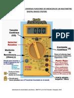 Imagen Explicativa de Las Diversas Funciones de Medicion de Un Multimetro Digital Basico