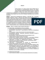 Constitución Jc Auditor y Consultores Gnrales Eirl