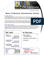 Centrifugal Pumps Cold Front - Vol. 9 No. 4, 2009 Newsletter