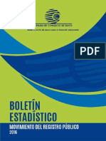 Boletin Estadistico. Movimiento Del Registro Publico 2016