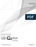 LG G3 Beat D722K Smart Phone Gold User Manual