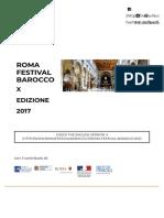 Roma Festival Barocco   X EDIZIONE 2017   Concerti Musica Barocca