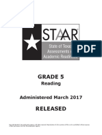 2017 5th grade STAAR reading test