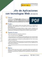 Folleto IFCD0210 Desarrollo de Aplicaciones Con Tenologia Web Calidad