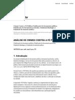 Crimes Contra a Fé Pública_Falsificação de Documento Público, Falsificação de Documento Particular, Falsidade Ideológica e Falsidade de Atestado Médico