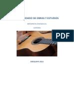 Consolidado de Obras y Estudios 2017 Guitarra