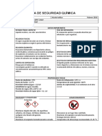 Ficha de Seguridad Quìmica Etanol