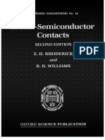 Contacto Metal Semiconductor Rhoderick and William Ok