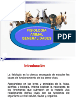 Fisiologia Animal - Generalidades - 2016