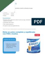 Nutricion (Adulta e Infantil) - Dietas Estandar Orales - Con Fibra - EnSURE POLVO