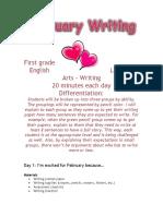 february writing unit