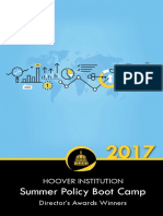 Hoover Institution Summer Policy Boot Camp Director's Award