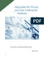 Engineering Paths for Wayne State University Undergrad Students