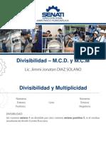 1 - Divisibilidad - M.C.D. y M.C.M.