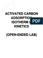 Exp 7 - Activated Carbon Adsorption