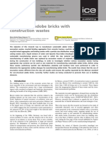 Sustainable adobe bricks with construction wastes