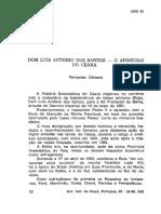 TEXTO Dom Luis Antonio Dos Santos O Apostolo Do Ceara Rev Do Inst Do Ceara 1981