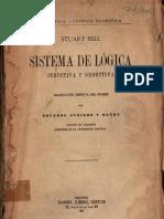 Sistema de Lógica, John Stuart Mill, Parte 1