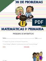Coleccion de Problemas de Matematicas 1º Primaria